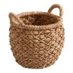 Small Natural Hyacinth Evelyn Tote Basket $17.98