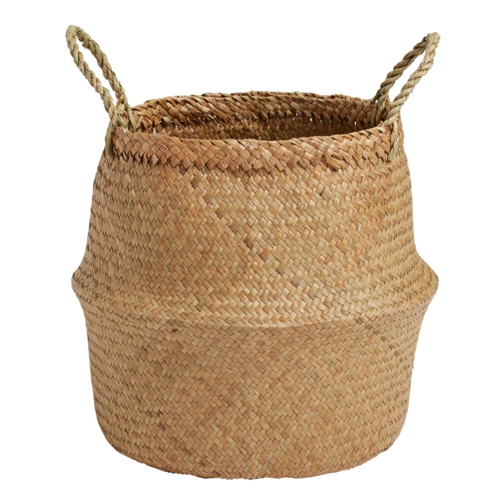 Natural Seagrass Ellery Belly Basket $14.99 https://fave.co/3t5fBAY