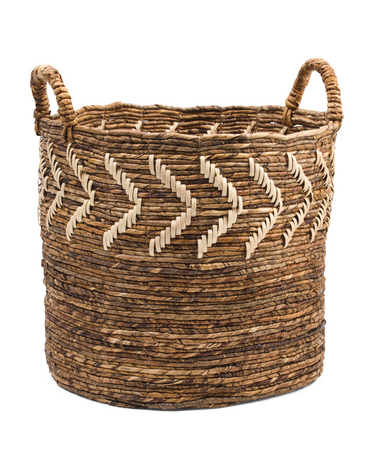 HANDCRAFTED IN INDIA Small Decorated Banana Basket $16.99