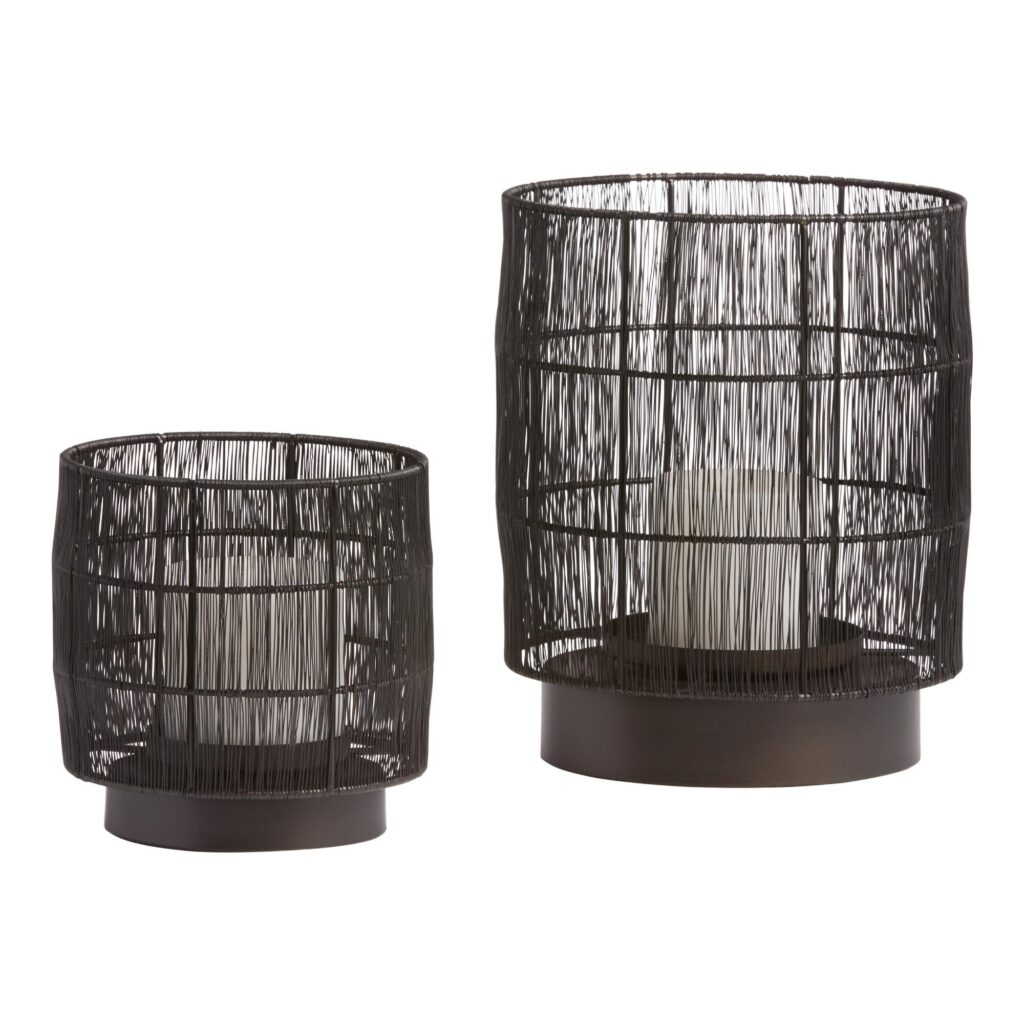 Black Wire Evan Hurricane Candleholder $14.99-$29.99 https://fave.co/3a13uh0