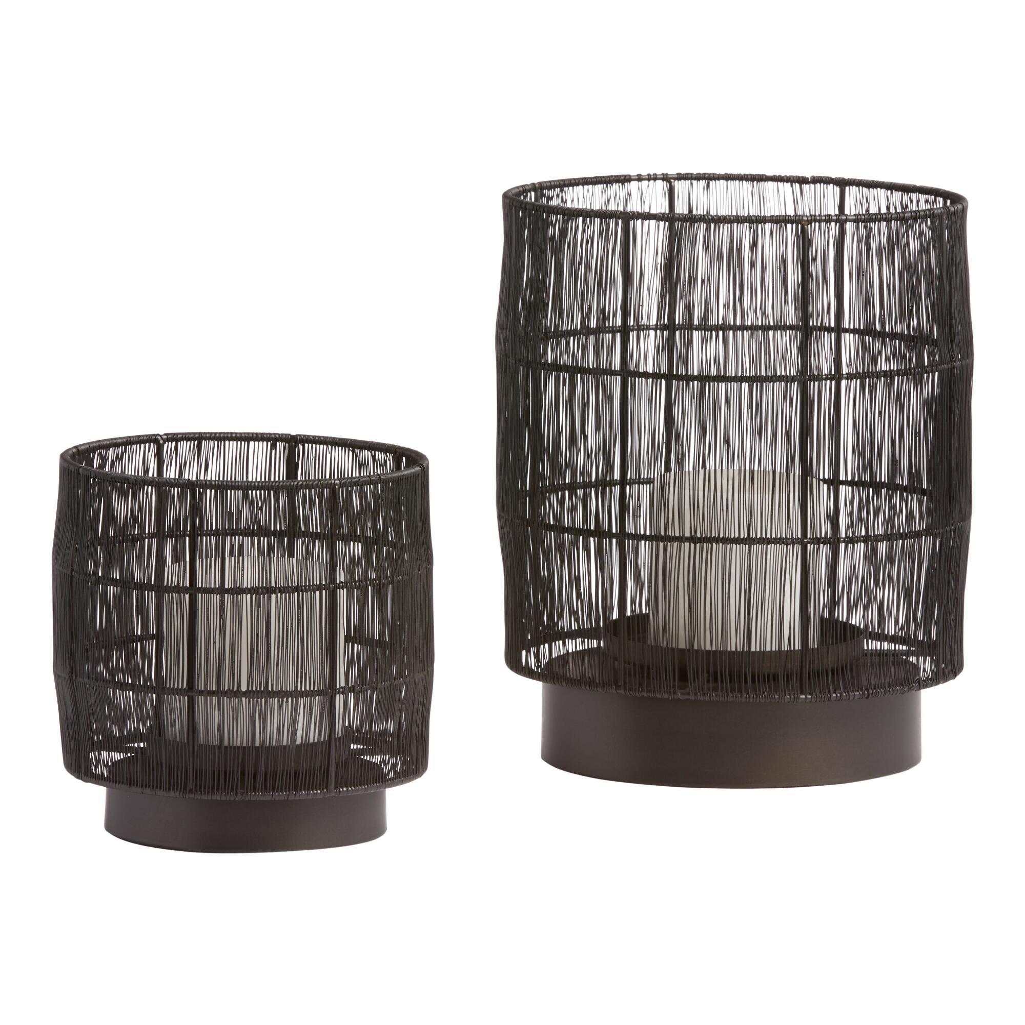 Black Wire Evan Hurricane Candleholder $14.99-$29.99