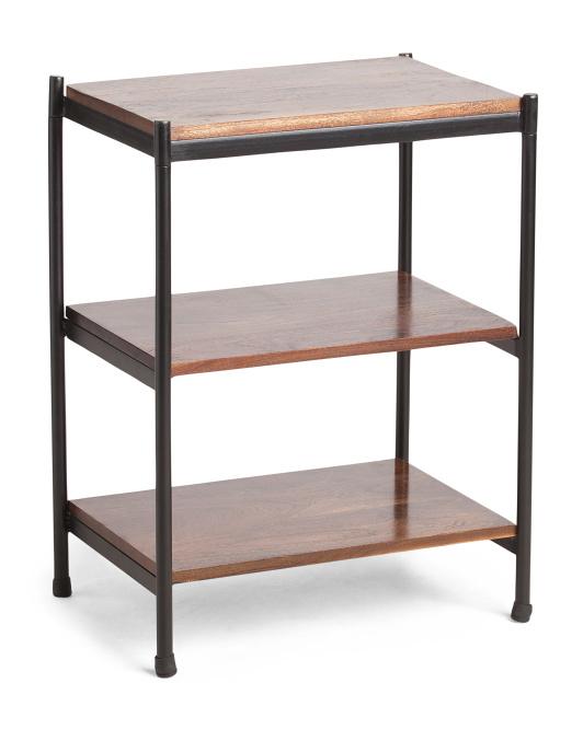 BP INDUSTRIES Simon 3 Shelf Mango Wood Table $79.99