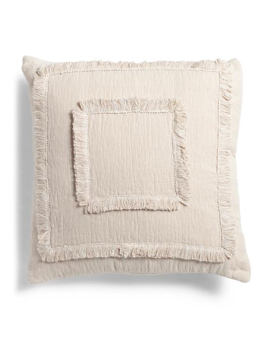 INDIGO COLLECTION 20x20 Textured Cotton Pillow $24.99