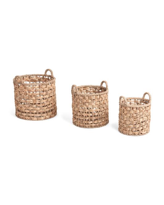 VIETNAM STORAGERound Seagrass Braid Basket Collection$14.99 — $24.99