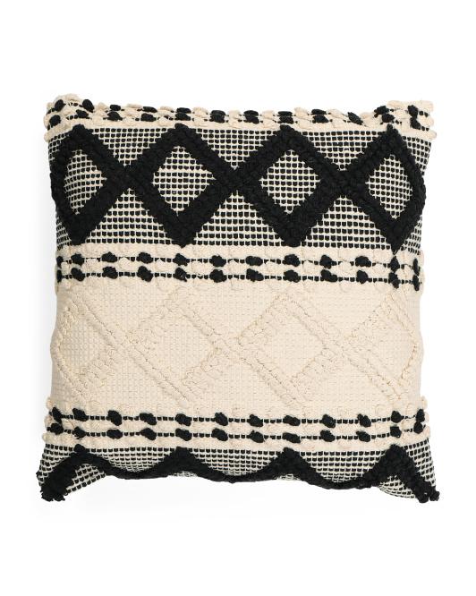 LUSH DECOR 20x20 Geometric Textured Pillow $16.99 https://fave.co/3pRbN3r