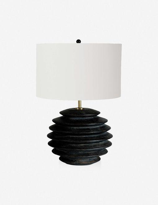 COASTAL LIVING ACCORDION ROUND TABLE LAMP, EBONY $463