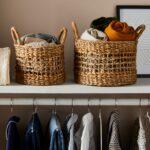 Handwoven Open Weave Storage Baskets (Set of 2) $76