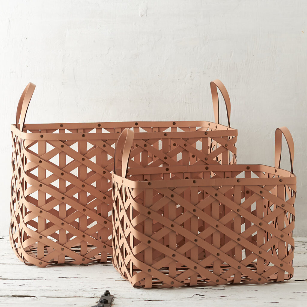 Woven Leather Basket $148.00–$228.00