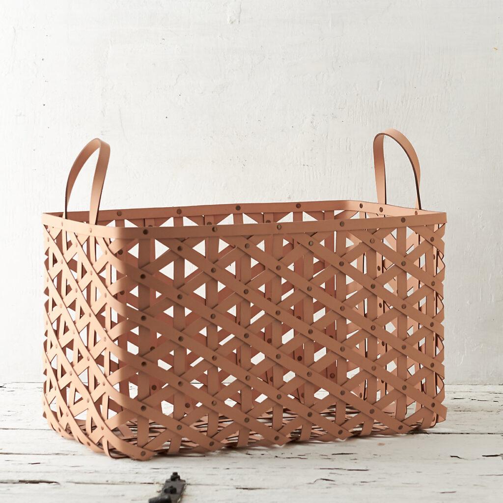 Woven Leather Basket $148.00–$228.00 https://fave.co/3kKAldC