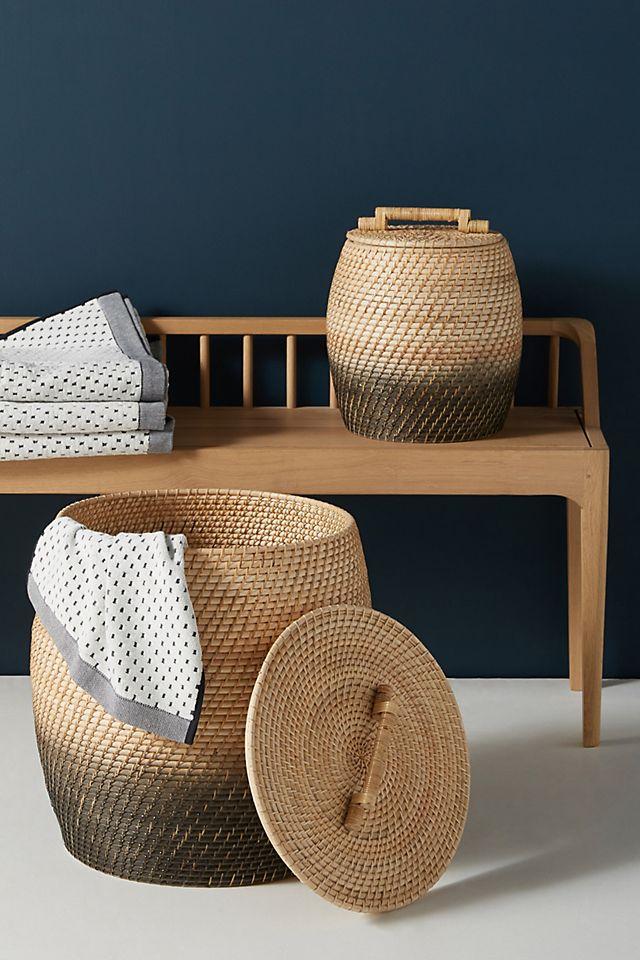 Handwoven Ombre Laundry Basket $108.00 https://fave.co/3qalhat