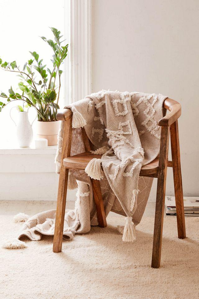 Geo Tufted Tassel Throw Blanket $69.00