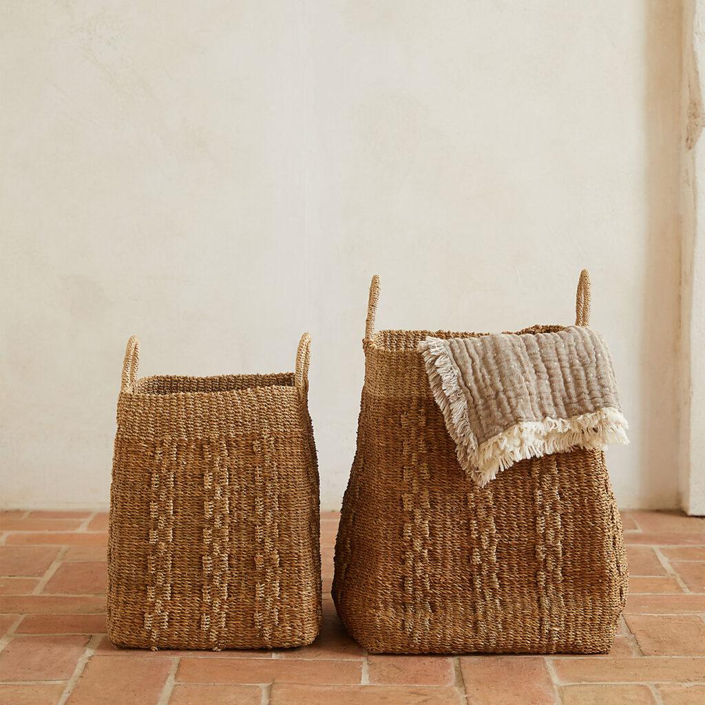Woven Abaca Basket $218.00