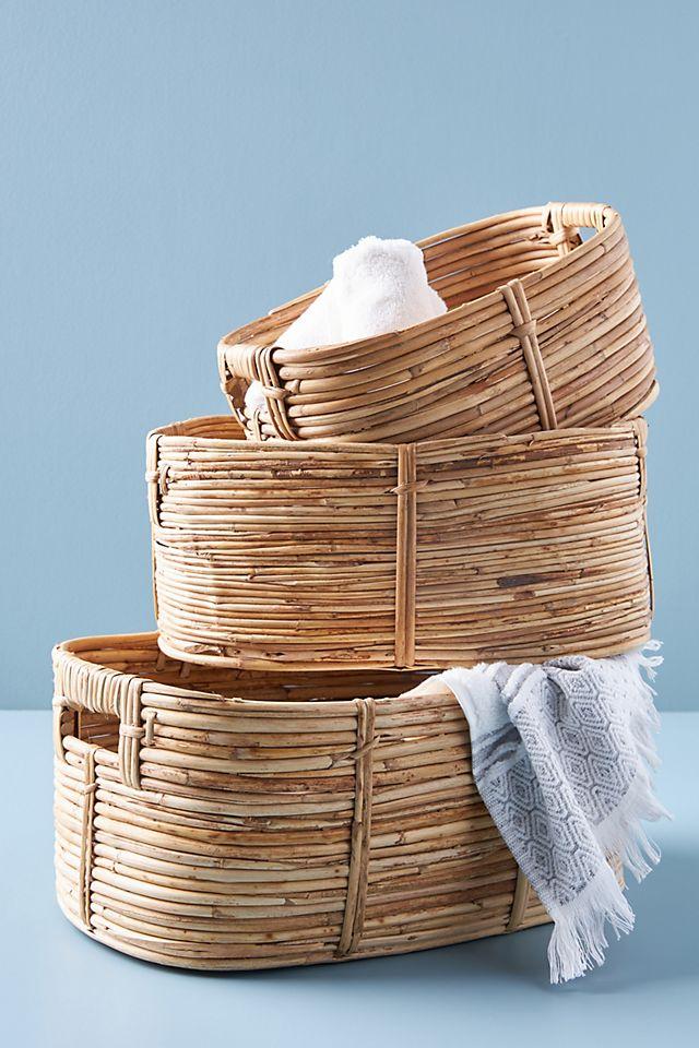 Lennox Rattan Baskets, Set of 3 $198.00 https://fave.co/38boMr0