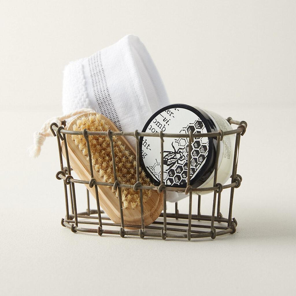 Wire Bathroom Storage Basket $20.00