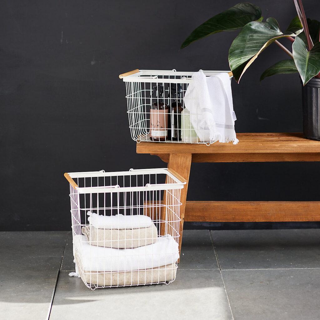 Wire Laundry Basket $78.00–$88.00 https://fave.co/3kKlHDe