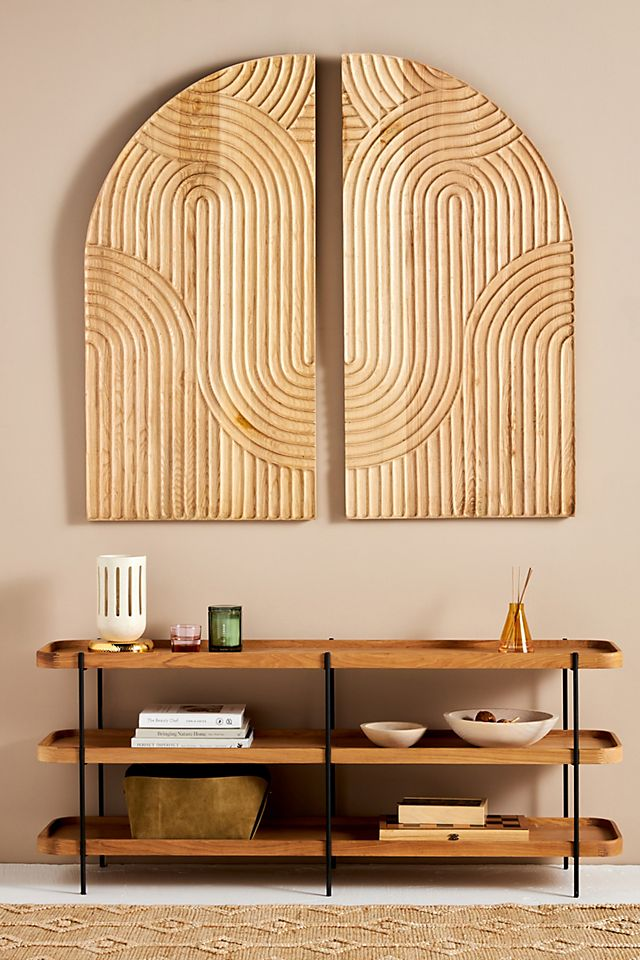 Concentric Oak Diptych Wall Art $978.00