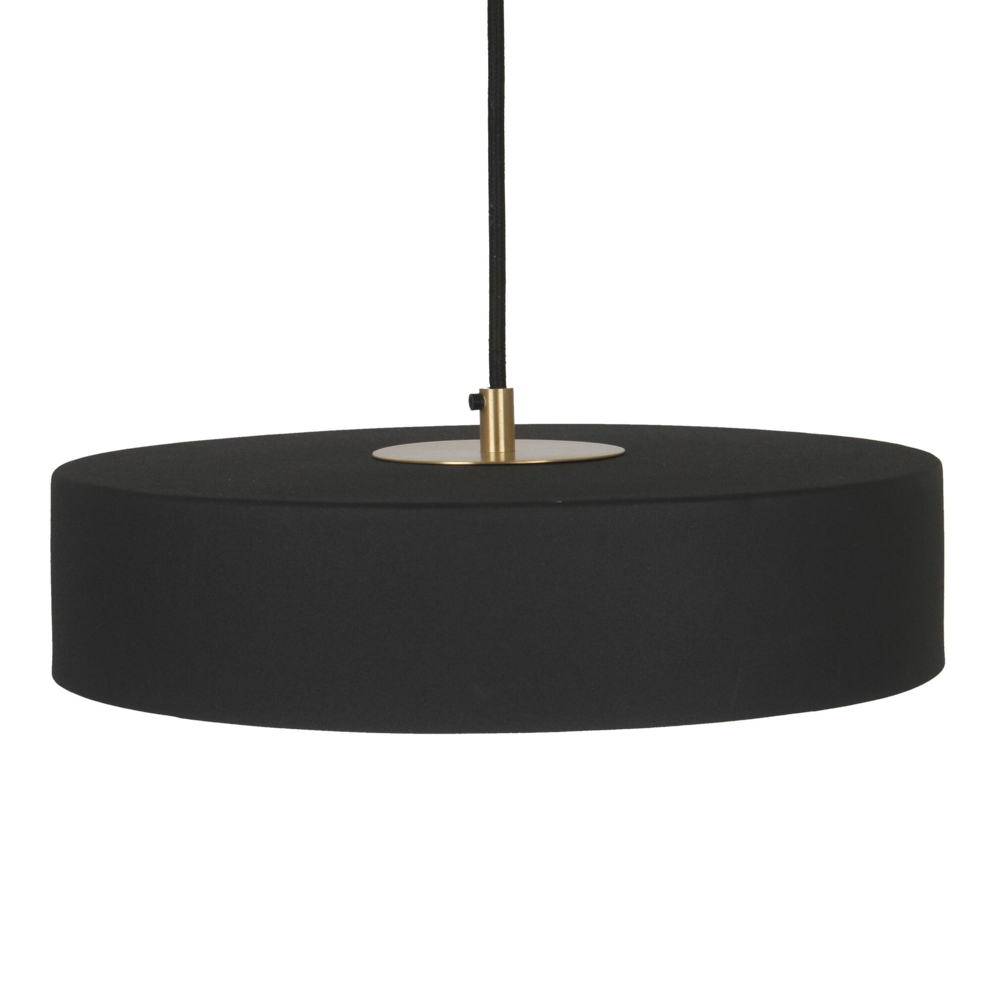 Black Iron And Brass Circle Kingsley Pendant Lamp $229.99