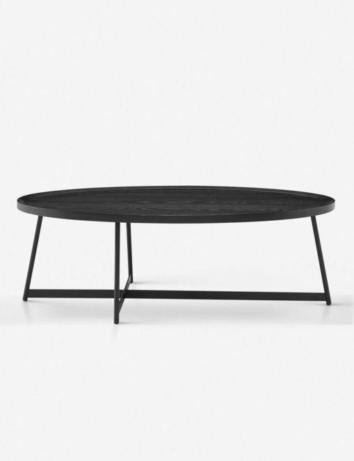 GWENETH OVAL COFFEE TABLE, BLACK ASH $487