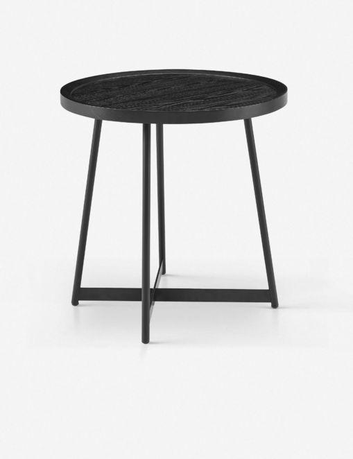 GWENETH SIDE TABLE, BLACK ASH $396