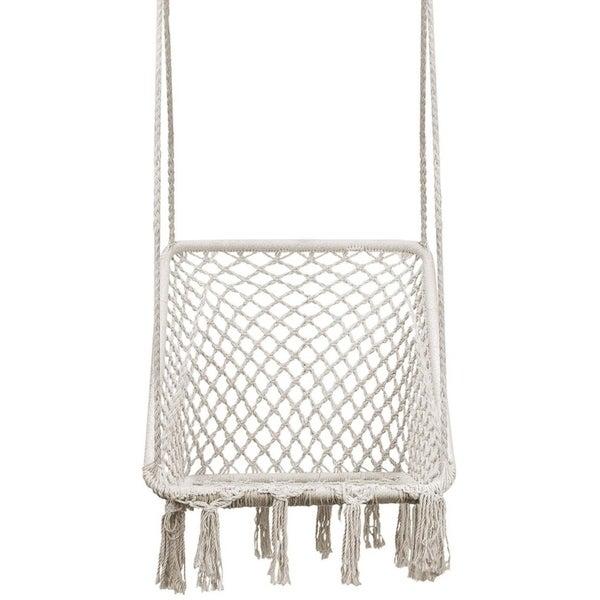 Hammock Chair Swing - Square Ergonomic Comfortable Bohemian Design, Handmade Cotton Rope $69.99