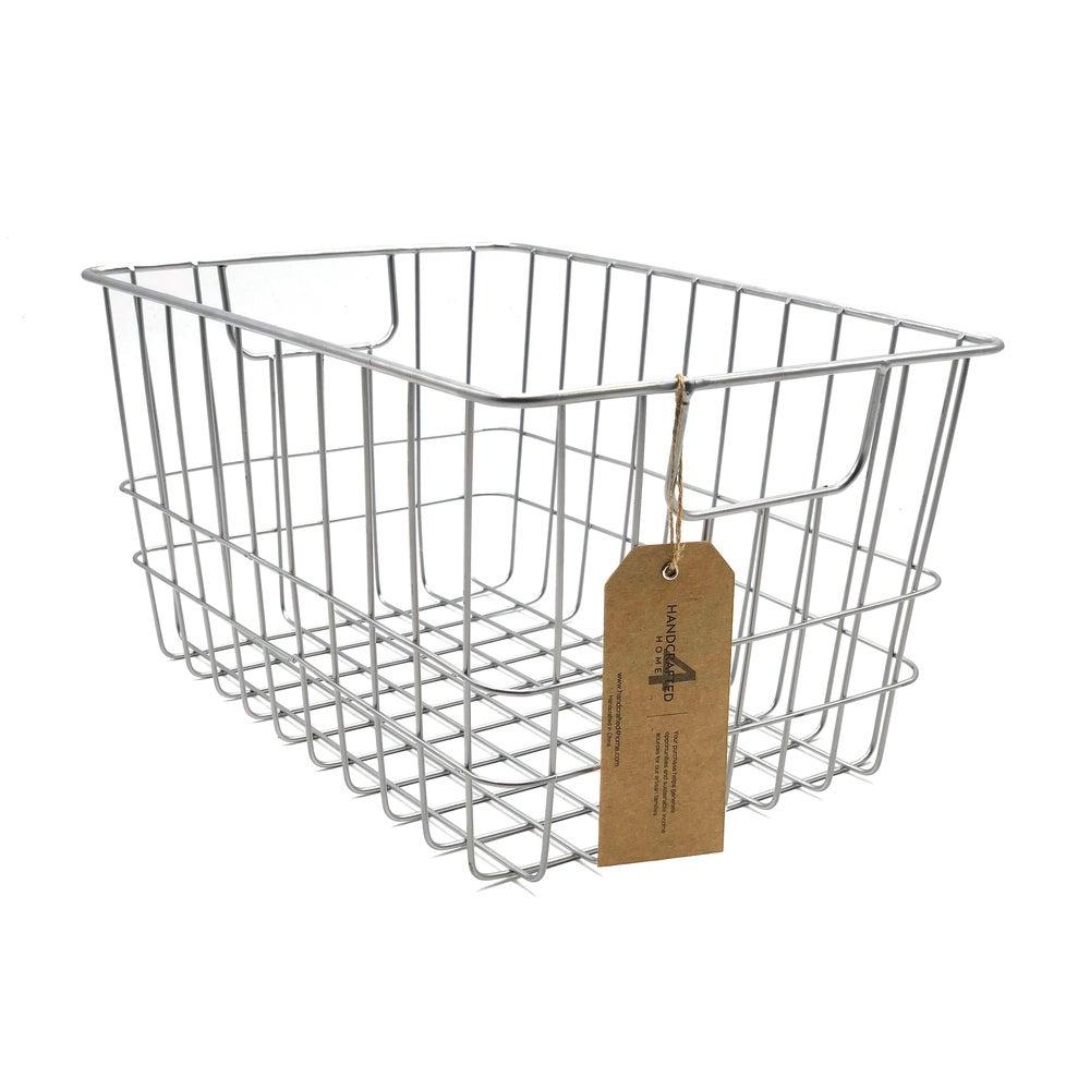 Handmade Metal Wire Basket, Set of 2 $38.49