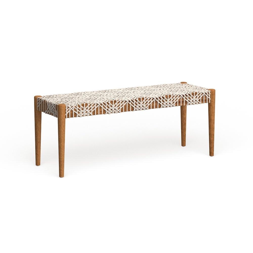 Safavieh Bandelier Off-White/ Light Oak Bench $393.29