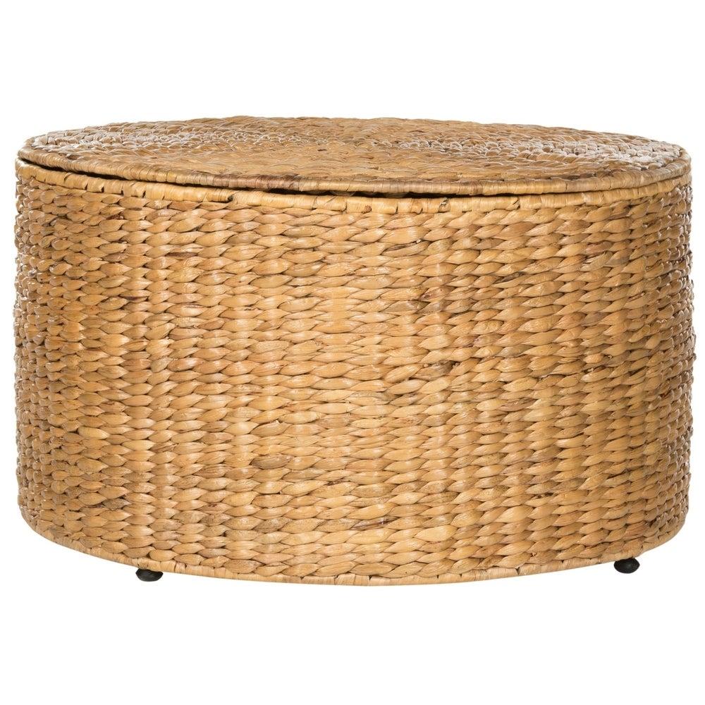 """Safavieh Jesse Wicker Storage Coffee Table - 28.5\"""" x 28.5\"""" x 17 $158.39"""