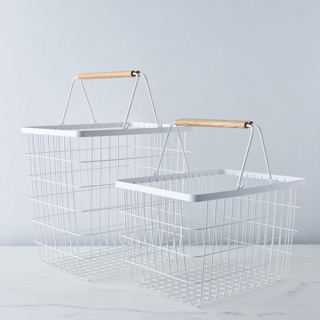 Steel & Wood Laundry Basket $50–$55 https://fave.co/389Qnsl