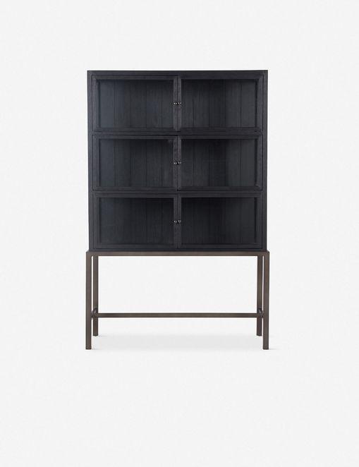 MARISA CURIO CABINET, BLACK OAK $1,899