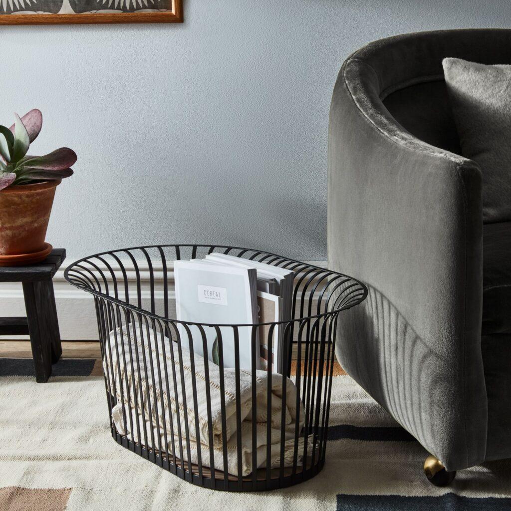 Steel Ribbon Storage Basket $290 https://fave.co/3srV5Kq