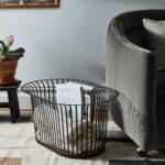 Steel Ribbon Storage Basket $290