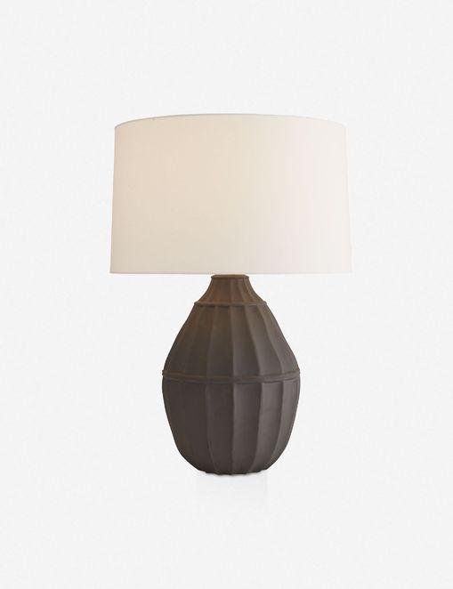 BETH WEBB FOR ARTERIORS TANGIER TABLE LAMP, MATTE BLACK $745