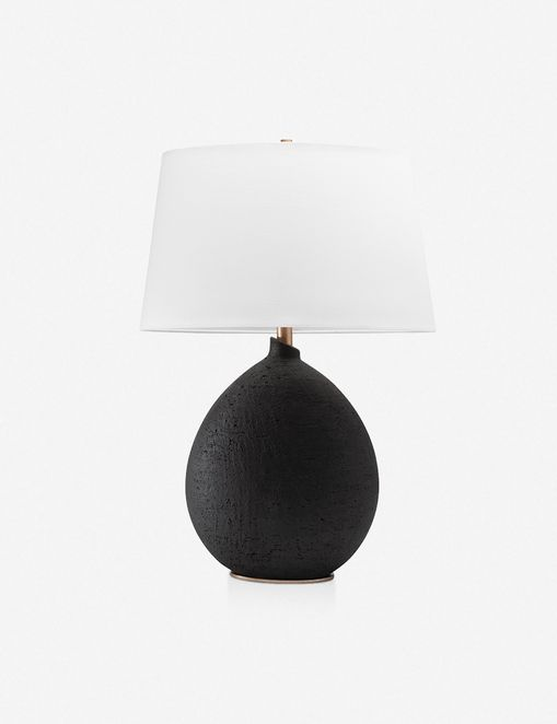 ARIANA TABLE LAMP, BLACK $398