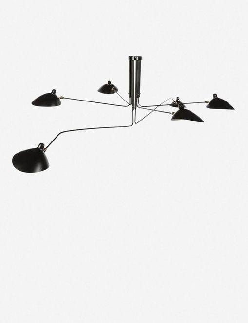 JOSLINE CHANDELIER LAMP, BLACK $787