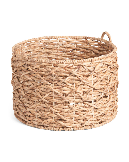 RGI HOME Xl Water Hyacinth Round X Twisted Weave Basket $24.99
