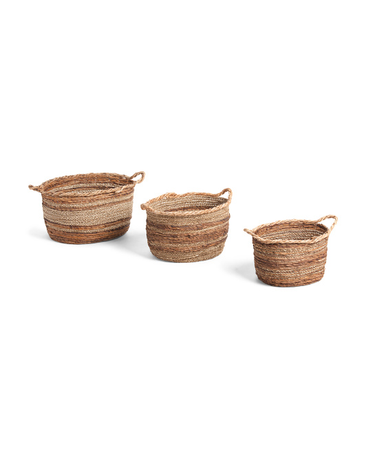 MADE IN VIETNAM Banana Seagrass Oval Basket Collection $14.99 — $29.99