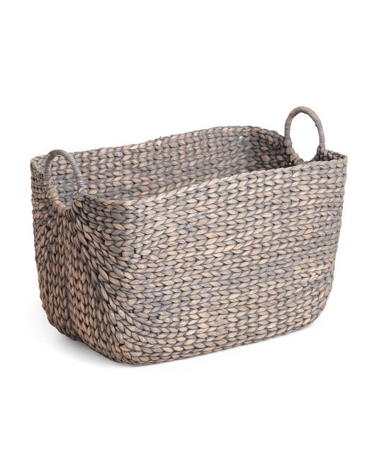 RGI HOME Xl Havana Weave Water Hyacinth Curved Storage Basket $29.99