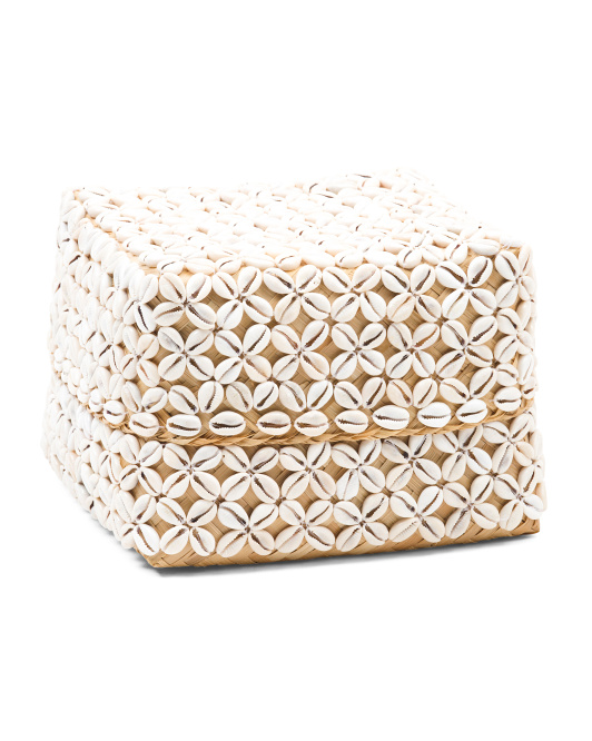MADE IN INDONESIA Large Bamboo Shell Box $29.99