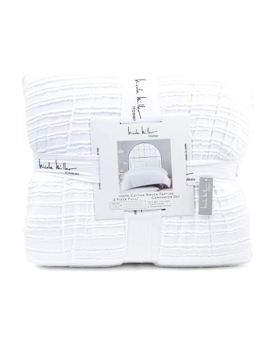 NICOLE MILLER HOME Felicia Stripe Comforter Set $69.99 — $79.99
