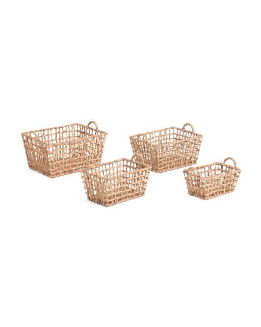 VIET05 Rectangle Open Twist Basket Collection $7.99 — $14.99