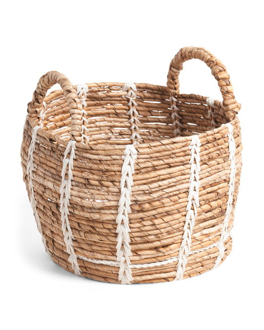 MADE IN VIETNAM Small Belly Banana Basket With Thread Decor $19.99