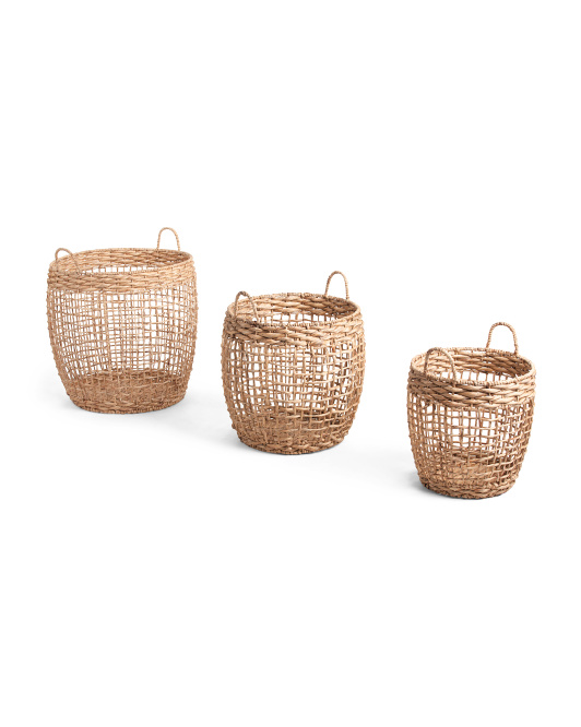 RGI HOME Open Twisted Weave Water Hyacinth Basket Collection $24.99 — $29.99