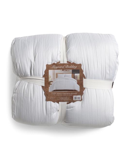 CREST HOME 3pc Cleveland Pintuck Bellyband Comforter Set $49.99