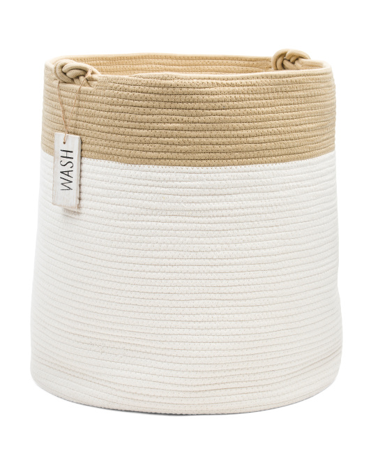 RGI STORAGE Large Cotton Rope Round Basket $29.99