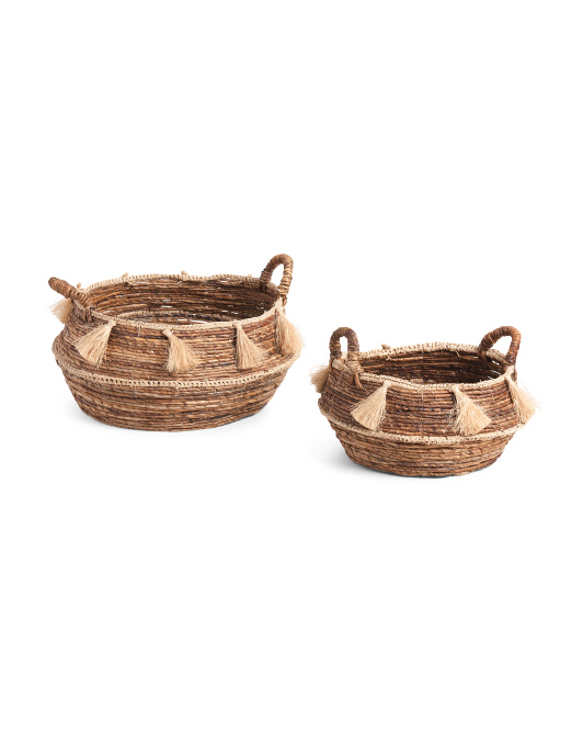 MADE IN VIETNAM Banana Baskets With Tassel Collection $19.99 — $29.99