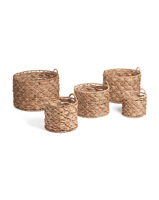 RGI HOME X Twisted Water Hyacinth Basket Collection $9.99 — $29.99
