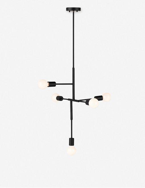 NILLIE PENDANT LIGHT, BLACK $308