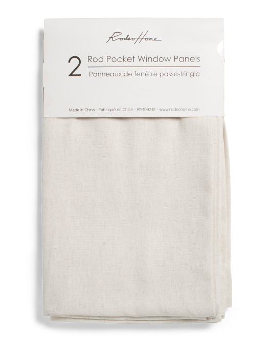 RODEO HOME 54x96 Set Of 2 Wide Linen Look Curtains $49.99