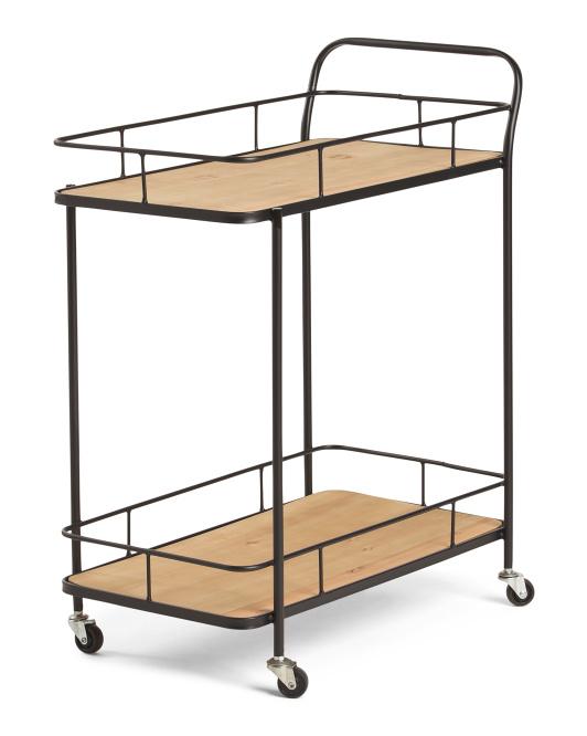 THREE HANDSWood Bar Cart $99.99