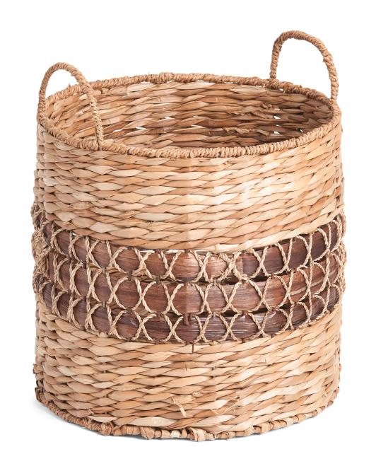 RGI HOME Small Standard Weave Round Storage Basket $14.99